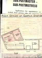 1947/59  SUB PO APPLICATION & PO PLAN AT GARTLY STATION