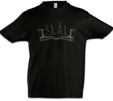 Skål I Boys T-Shirt Drinking Horn Valhalla Thor Loki Odin Viking Vikings Norse
