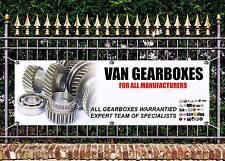 Boîte extérieure van vente bannière garage signe publicité art libre travail prêt display