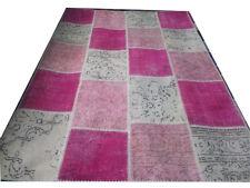CUSTOM multicolor pink  vintage Overdyed Handmade Turkish Patchwork Carpet rug