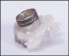 ein Silberring 925 Ring Drehring Silber Zopfmuster Kelten geflochten Unisex NEU