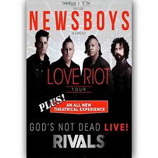 65103 New Newsboys Love Riot Tour Wall Print Poster CA