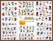 Nail Stickers HALLOWEEN  Water Decals  Nail Art DIY 3d Ghosts Skulls Pumpkin
