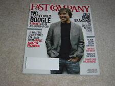 GOOGLE CEO LARRY PAGE April 2011 FAST COMPANY MAGAZINE