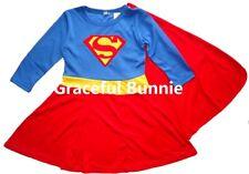 BNWT Girls Super Woman Long Sleeve Costume Dress up Cosplay - 3-9yrs