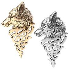 Retro Europe Wolf Head Badge Brooch Lapel Pin Men/Women Shirt Suit Accessory