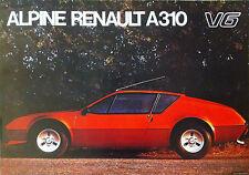Renault Alpine A310 V6 Rojo Clásico Cartel de auto impresiones de fotos A1