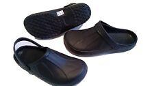 Completo Kitchen Zuecos Negro chefs Zapatos Calzado De Seguridad Jardín Slip On Cloggies Nuevo