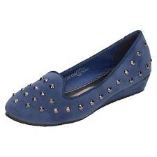 niña h2299 Azul Textil Calce Tachuelas Zapatos de Ajustadas precio de venta