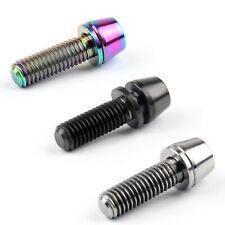 Titanium Ti Bolt Allex Hex Bike Stem Tapered Head Screw+Washer 1/6pcs M5x16mm Y