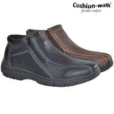 MENS CUSHION WALK ZIP WIDE COMFORT LINNING CASUAL WALKING DRIVING SHOES BOOTS SZ