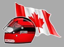 G. VILLENEUVE helmet left Flag Sticker gauche
