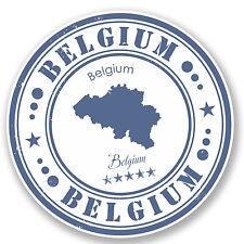 2 x Belgium Vinyl Sticker Luggage Travel iPad Laptop Helmet Gift Map Flag #4557