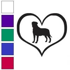Love Bullmastiff Heart Decal Sticker Choose Color + Large Size #lg1436