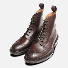 Trickers Stow Brown Dainite Brogue Boot