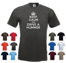 """Keep Calm e guidare un Hummer"" Funny Camion SUV H1 H2 H3 CAR T-SHIRT"