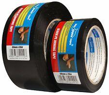 Cinta adhesiva plástico 50mm Negro Brillante resistente al Agua Fuerte Pegamento