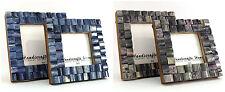 Cornice foto fatto a mano colori naturali osso in legno set da 2 MISURA 3x3-4x4