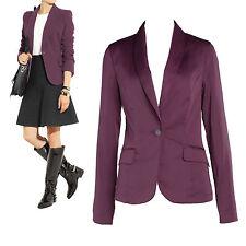 New look plum/marine blue/orange crepe blazer jacket Au 8 10 12 14 16
