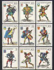 San Marino 1973 Crossbows/Weapons/Uniforms/Military/Sport/Music 9v set (n37399)