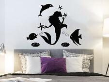 Wall Decal Mermaid Nautical Decor Vinyl Sticker Decals Bathroom Decor Art NS927