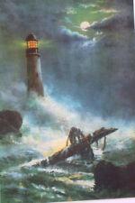 "Lighthouse on a stormy night 11"" X 16"""