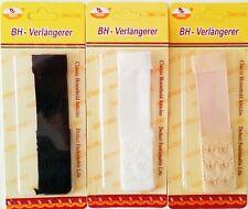1x BH-VERLÄNGERUNG BH-ERWEITERUNG, 2,4x11cm, 3 x 2 HAKEN in SCHWARZ, WEIß,BEIGE