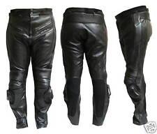 Pantalone Moto in Pelle JF-Pelle mod. 9200 Nero