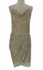 Haute Hippie Women's Silver Beaded Lace Dress HHSP12-9515 $695 NEW