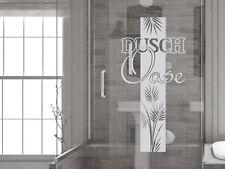 Glasdekor Fensterfolie Fensterdekor für Badezimmer Dusch Oase Blätter