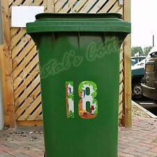 1 Pegatina Impermeable Número Color Casa Puerta Garage Muro Auto