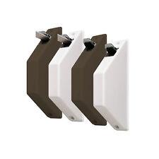 JAROLIFT Mini Halbeinlass Gurtwickler Rolladen Gurt Rollo 5m Gurtband Weiß Braun