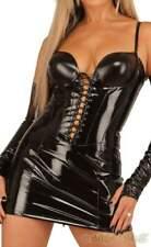Ledapol - Heißes Lack Schnür Mini-Kleid mit Zip in diversen Farben
