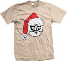 Santa Claus Hat Meme Face Christmas Angry Grumpy Internet Joke On Men's T-Shirt