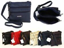 Ladies Small Genuine Soft Leather Shoulder Cross Body Travel Women's Purse Bag