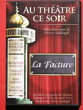 LA FACTURE - AU THÉÂTRE CE SOIR - DVD