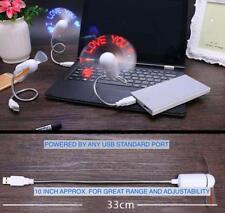 LOT 3 5 10 LED LIGHT USB POWER COOLING Mini FAN Travel Laptop Computer PC Desk