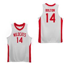 Zac E Troy Bolton 14 East High School Wildcats Stitch Basketball Jersey Wt  Sewn 9ca774b42