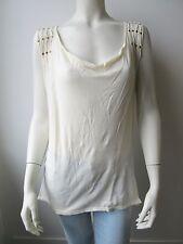 SuperTrash Träger Top Pullover T-Shirt Ivory Neu