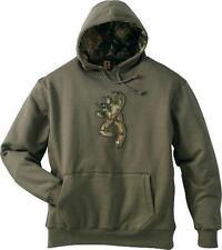 Browning Buckmark Camo Hoodie Hooded Top Jumper Sweatshirt Loden Green Men's New