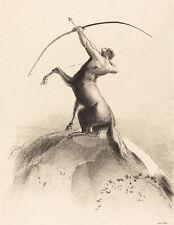"Odilon Redon : ""Centaur Aiming at the Clouds"" (1895) — Giclee Fine Art Print"