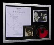 ARETHA FRANKLIN Respect LTD CD MUSIC FRAMED DISPLAY+EXPRESS GLOBAL SHIPPING!!