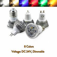 Dimmable LED Spot Light GU10 MR16 E14 GU5.3 B22  LED Lamp 3W 4W 5W DC 24V GL442