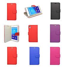 ETUI pour Sony Xperia Z3 Plus porte-feuille en divers couleurs