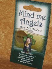 Mind Me Angels Pin Brooch Mind My Teacher Angel Irish Lapel Ireland Accessory