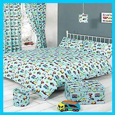 Kids Trucks Bedroom Collection Duvet set Curtains