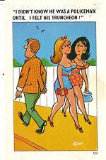 Sapphire/quip comic postcard police/QUIP   no 59 very/good/mint Original