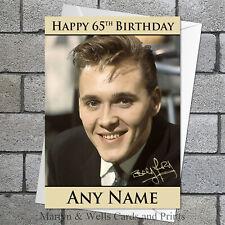 Billy Fury birthday card: Personalised, plus envelope.