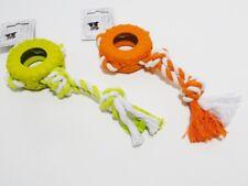 Hundespielzeug - Mini Autoreifen mit Seil - 8cm Durchmesser / 24cm Länge