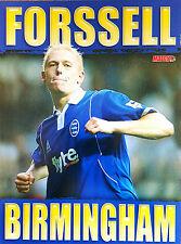 Partido de fútbol revista cartel de imagen Retro A4 reproductor Birmingham City-Varios
